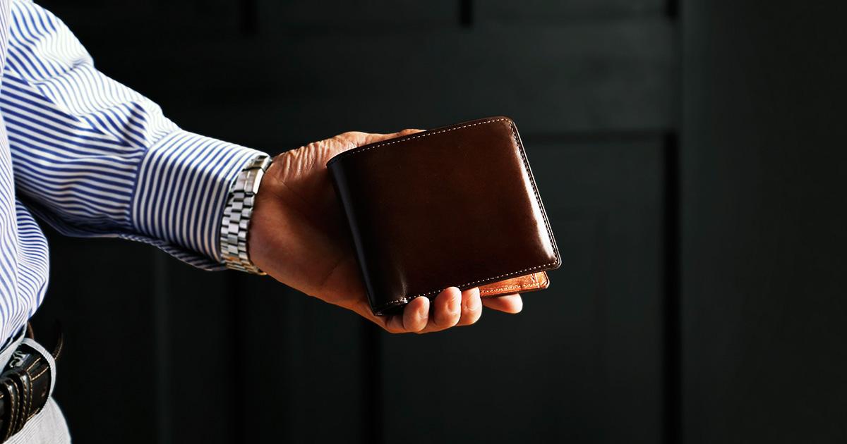スタッフ愛用品 コードバン 二折財布